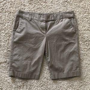 Ann Taylor khaki Bermuda shorts size 10